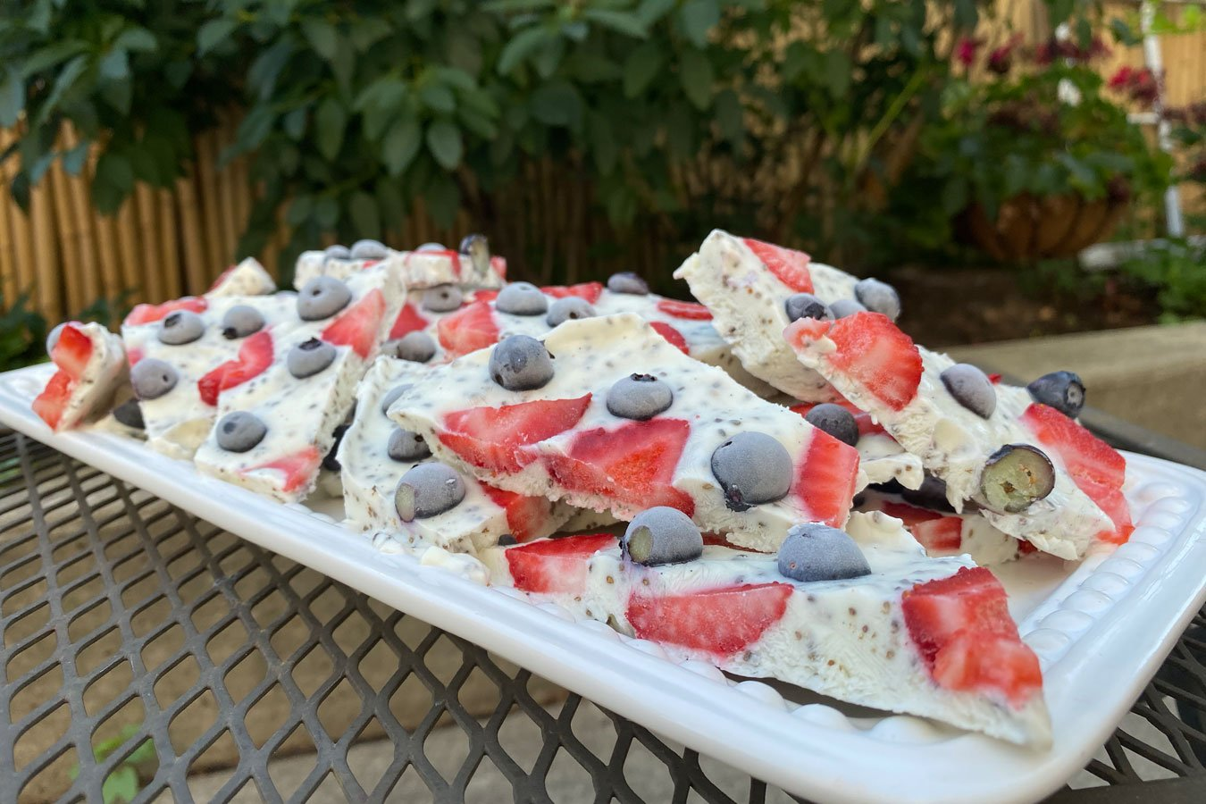 Frozen Berry Yogurt Bark